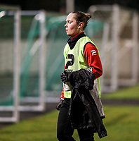 Stefanie Deville (3) of Woluwe pictured after the warm up before a female soccer game between FC Femina White Star Woluwe and Club Brugge YLA on the eleventh matchday of the 2020 - 2021 season of Belgian Scooore Womens Super League , Friday 22 January 2021  in Woluwe , Belgium . PHOTO SPORTPIX.BE   SPP   SEVIL OKTEM