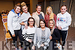 Attending the Kinetic Nutrition Tír na nÓg Orphanage Fundraiser in the Rose Hotel on Thursday night. Kneeling l to r: Lucy Horan (Killeen), Sabrina Kirwin (Kilflynn) and Evonne Duggan <br /> Back l to r: Jamie Lee Duggan (Tralee), Anita O'Brien, Samantha and Shanise Houlihan and Molly Duggan.