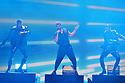 CORAL GABLES, FLORIDA - JULY 22: Ricky Martin (C) performs onstage at Premios Juventud 2021 at Watsco Center on July 22, 2021 in Coral Gables, Florida. (Photo by Johnny Louis / jlnphotography.com )