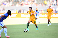 Carson, CA - Thursday August 03, 2017: Katrina Gorry during a 2017 Tournament of Nations match between the women's national teams of Australia (AUS) and Brazil (BRA) at the StubHub Center.