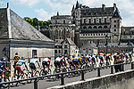 The peloton pass through Amboise during Stage 6 of the 2021 Tour de France, running 160.6km from Tours to Chateauroux, France. 1st July 2021.  <br /> Picture: A.S.O./Charly Lopez | Cyclefile<br /> <br /> All photos usage must carry mandatory copyright credit (© Cyclefile | A.S.O./Charly Lopez)