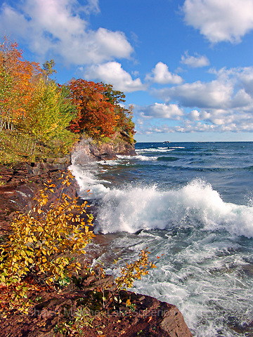 Presque Isle Autumn, Lake Superior Marquette MI. Nov 2007 Cover, Lake Superior Magazine