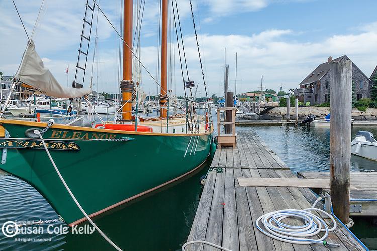 The schooner Eleanor at Arundel Wharf in Kennebunkport, Maine, USA