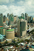An aerial view of Makati area of Manila, Philippines. Photo: Sanjit Das