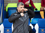 St Johnstone v Motherwell…28.09.19   McDiarmid Park   SPFL<br />Motherwell boss Syephen Robinson<br />Picture by Graeme Hart.<br />Copyright Perthshire Picture Agency<br />Tel: 01738 623350  Mobile: 07990 594431