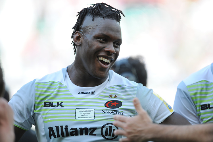 Maro Itoje of Saracens during the Aviva Premiership Rugby Final between Exeter Chiefs and Saracens at Twickenham Stadium on Saturday 26th May 2018 (Photo by Rob Munro/Stewart Communications)