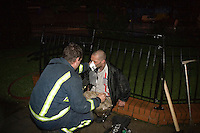Male adult receiving oxygen therapy after being rescued from his burning Flat. This image may only be used to portray the subject in a positive manner..©shoutpictures.com..john@shoutpictures.com