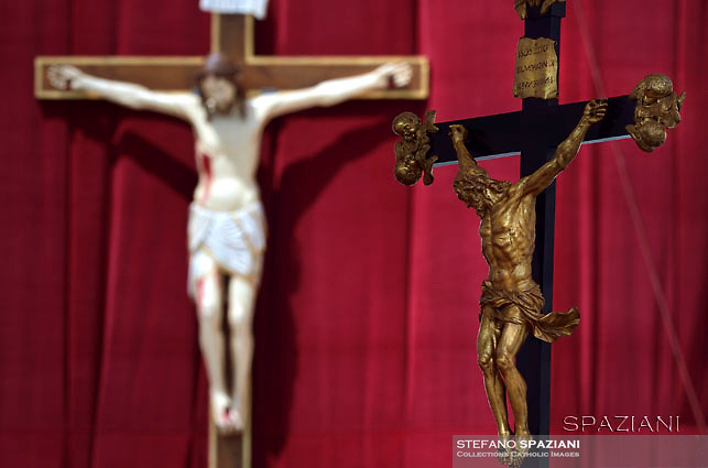 Crucifix in St. Peter square at the Vatican,Pope Francis during his weekly general audience  in St. Peter square at the Vatican, Wednesday.June 1 2016.