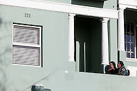 South Africa, Cape Town.  Bo-kaap Residents Talking.