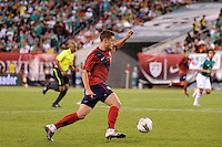 Robbie Rogers (16) of the United States. The men's national teams of the United States (USA) and Mexico (MEX) played to a 1-1 tie during an international friendly at Lincoln Financial Field in Philadelphia, PA, on August 10, 2011.