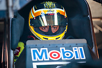 Sep 26, 2020; Gainesville, Florida, USA; NHRA funny car driver J.R. Todd during qualifying for the Gatornationals at Gainesville Raceway. Mandatory Credit: Mark J. Rebilas-USA TODAY Sports