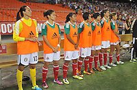 Mexico during the presentation of the players. The USWNT defeated Mexico 7-0 during an international friendly, at RFK Stadium, Tuesday September 3, 2013.