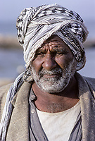 Kuwait March 1968.  Middle-aged Kuwaiti Man at the Sief Waterfront.
