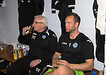 St Johnstone v Motherwell.....19.05.13      SPL.Alan Mannus rests up in the dressing room with Tommy Campbell.Picture by Graeme Hart..Copyright Perthshire Picture Agency.Tel: 01738 623350  Mobile: 07990 594431