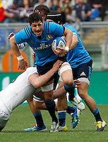 Rugby, Torneo delle Sei Nazioni: Italia vs Inghilterra. Roma, 14 febbraio 2016.<br /> Italy's Alessandro Zanni in action during the Six Nations rugby union international match between Italy and England at Rome's Olympic stadium, 14 February 2016.<br /> UPDATE IMAGES PRESS/Riccardo De Luca