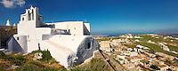 Chapel and churches of Pyros, Santorini, Greece