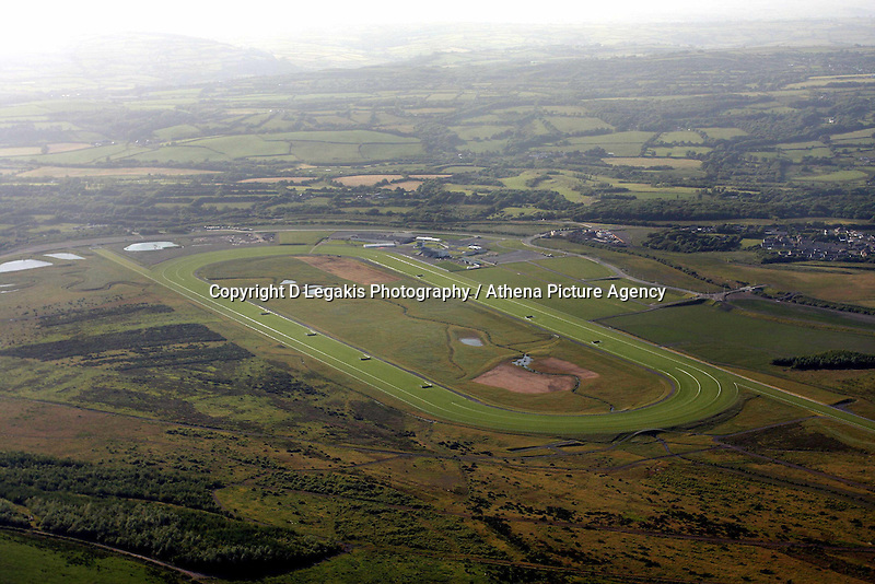 Ffos Las, the new race course in Trimsaran west Wales.<br /> Re: Aerial view of Wales. Sunday 14 June 2009<br /> Picture by D Legakis Photography / Athena Picture Agency, 24 Belgrave Court, Swansea, SA1 4PY, 07815441513