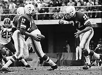 Jackie Parker Quarterback and Dick Shatto Toronto Argonauts 1963 Copyright photograph Ted Grant
