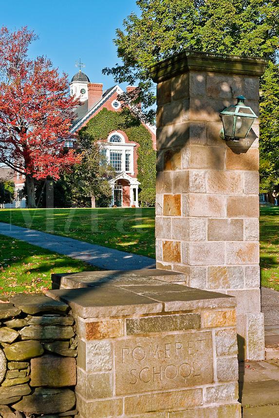 Pomfret School, Pomfret, Connecticut, CT, USA. Private academy prep school.