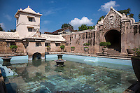 Yogyakarta, Java, Indonesia.  Taman Sari, the Water Castle, mid-18th. Century, incorporating Islamic, Hindu, Chinese, Javanese, and Portuguese Influences in the Design.