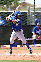 Christian Colon #4 of the Kansas City Royals plays in a minor league spring training game against the Seattle Mariners at the Royals complex on March 26, 2011  in Surprise, Arizona. .Photo by:  Bill Mitchell/Four Seam Images.