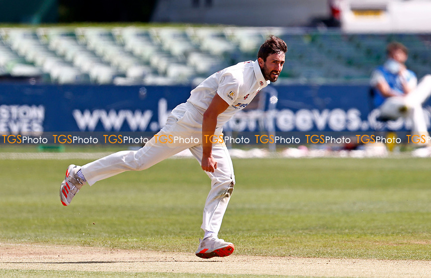 Ben Sanderson bowls for Northants during Kent CCC vs Northamptonshire CCC, LV Insurance County Championship Group 3 Cricket at The Spitfire Ground on 5th June 2021