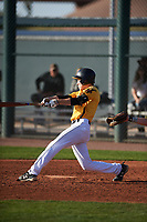 Nicholas Broshears (5) of Cerritos High School in Cerritos, California during the Baseball Factory All-America Pre-Season Tournament, powered by Under Armour, on January 14, 2018 at Sloan Park Complex in Mesa, Arizona.  (Zachary Lucy/Four Seam Images)