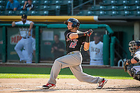 Jose Rivera (12) of the Albuquerque Isotopes at bat against the Salt Lake Bees in Pacific Coast League action at Smith's Ballpark on June 8, 2015 in Salt Lake City, Utah.  The Bees defeated the Isotopes 10-7 in game one of a double-header. (Stephen Smith/Four Seam Images)