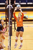SAN ANTONIO, TX - OCTOBER 12, 2018: The University of Texas at San Antonio Roadrunners defeat the Florida International University Panthers 3-2 (23-25, 25-15, 25-22, 22-25, 15-9) at the UTSA Convocation Center. (Photo by Jeff Huehn)