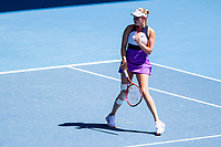 15th February 2021, Melbourne, Victoria, Australia; Donna Vekic of Croatia celebrates after winning a game during round 4 of the 2021 Australian Open on February 15, 2021, at Melbourne Park in Melbourne, Australia.