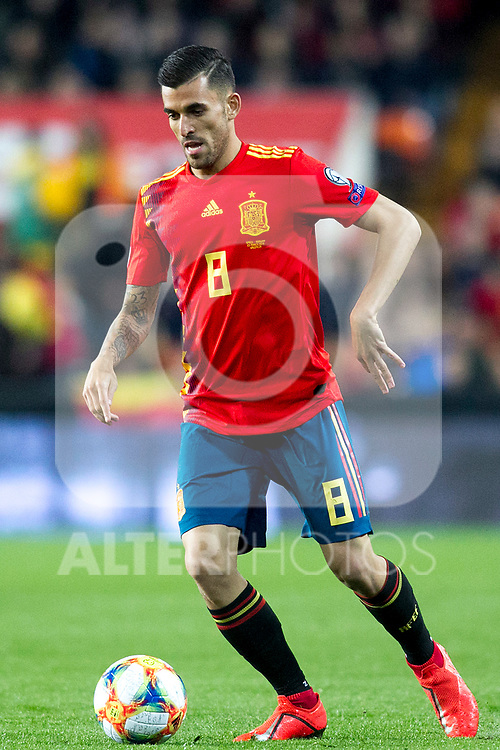 Spain's Daniel Ceballos  during the qualifying match for Euro 2020 on 23th March, 2019 in Valencia, Spain. (ALTERPHOTOS/Alconada)