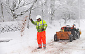 29/01/15<br /> <br /> A quad bike is used to grit the A515.<br /> <br /> Heavy snowfall results in multiple accidents, stranded vehicles and traffic chaos as the wintery weather does its best to shut down theDerbyshire Peak District town of Buxton.<br /> <br /> All Rights Reserved - F Stop Press.  www.fstoppress.com. Tel: +44 (0)1335 418629 +44(0)7765 242650