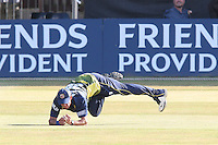 Tony Palladino of Essex makes a catch to dismiss Salman Butt off of the bowling of DaNish Kaneria - Essex Eagles vs Pakistan - T20 Tour Match at the Ford County Ground, Chelmsford - 02/07/10 - MANDATORY CREDIT: Gavin Ellis/TGSPHOTO - Self billing applies where appropriate - Tel: 0845 094 6026