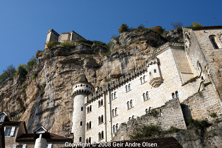 Rocamadour, small village that rise in stages up the side of a cliff in southwestern France