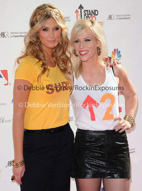 Delta Goodrem & Natasha Bedingfield at Stand Up to Cancer held at Sony Picture Studios in Culver City, California on September 10,2010                                                                               © 2010 Hollywood Press Agency