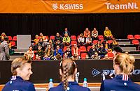 Den Bosch, The Netherlands, Februari 9, 2019,  Maaspoort , FedCup  Netherlands - Canada,  Kids Press Conference With Richel Hogenkamp, Bibiane Schoofs and Demi Schuurs<br /> Photo: Tennisimages/Henk Koster