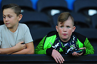 Swansea City fans in action during the Carabao Cup Second Round match between Swansea City and Cambridge United at the Liberty Stadium in Swansea, Wales, UK. Wednesday 28, August 2019.