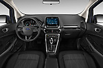 Stock photo of straight dashboard view of a 2018 Ford EcoSport SE 5 Door SUV
