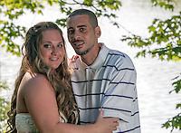 Heather & Josh's engagemen session at Canonsburg Lake iin Canonsburg, PA on June 6, 2014.