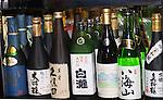 Saki Bottles Umu Restaurant, London, city, England, UK, United Kingdom, Great Britain, Europe, European
