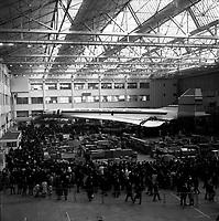 """""""portes ouvertes"""" organisée par Sud Aviation pour présenter le Concorde, Ateliers Sud Aviation (Saint-Martin-du-Touch). 28 janvier 1968."""