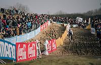 course recon for CX World Champion Wout van Aert (BEL/Crelan-Charles)<br /> <br /> Belgian National CX Championships / Koksijde 2018