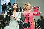 """Maribel Verdu and Paula Cancio attend the Presentation of """"Happy 140"""" (Felices 140) Movie at Eurobuilding Hotel, Madrid,  Spain. April 07, 2015.(ALTERPHOTOS/)Carlos Dafonte)"""
