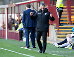 Motherwell v St Johnstone….30.03.19   Fir Park   SPFL<br />Stephen Robinson reacts after his side miss a chance to score<br />Picture by Graeme Hart. <br />Copyright Perthshire Picture Agency<br />Tel: 01738 623350  Mobile: 07990 594431