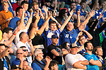 St Johnstone v Lask…26.08.21  McDiarmid Park    Europa Conference League Qualifier<br />Saints fans in good voice in the East Stand<br />Picture by Graeme Hart.<br />Copyright Perthshire Picture Agency<br />Tel: 01738 623350  Mobile: 07990 594431