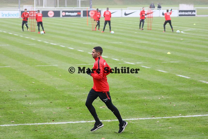 Omar Mascarell (Eintracht Frankfurt) wieder im Training - 08.11.2017: Eintracht Frankfurt Training, Commerzbank Arena