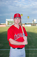 AZL Angels Jacob Pearson (2) poses for a photo before a game against the AZL Diamondbacks on August 20, 2017 at Diablo Stadium in Tempe, Arizona. AZL Angels defeated the AZL Diamondbacks 19-1. (Zachary Lucy/Four Seam Images)