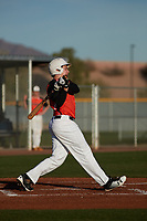 Henry Politz (15) of Jesuit High School in Tampa, Florida during the Baseball Factory All-America Pre-Season Tournament, powered by Under Armour, on January 14, 2018 at Sloan Park Complex in Mesa, Arizona.  (Freek Bouw/Four Seam Images)
