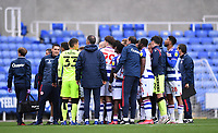 3rd October 2020; Madejski Stadium, Reading, Berkshire, England; English Football League Championship Football, Reading versus Watford; Reading players and management pose for a photo from their owner in the stands
