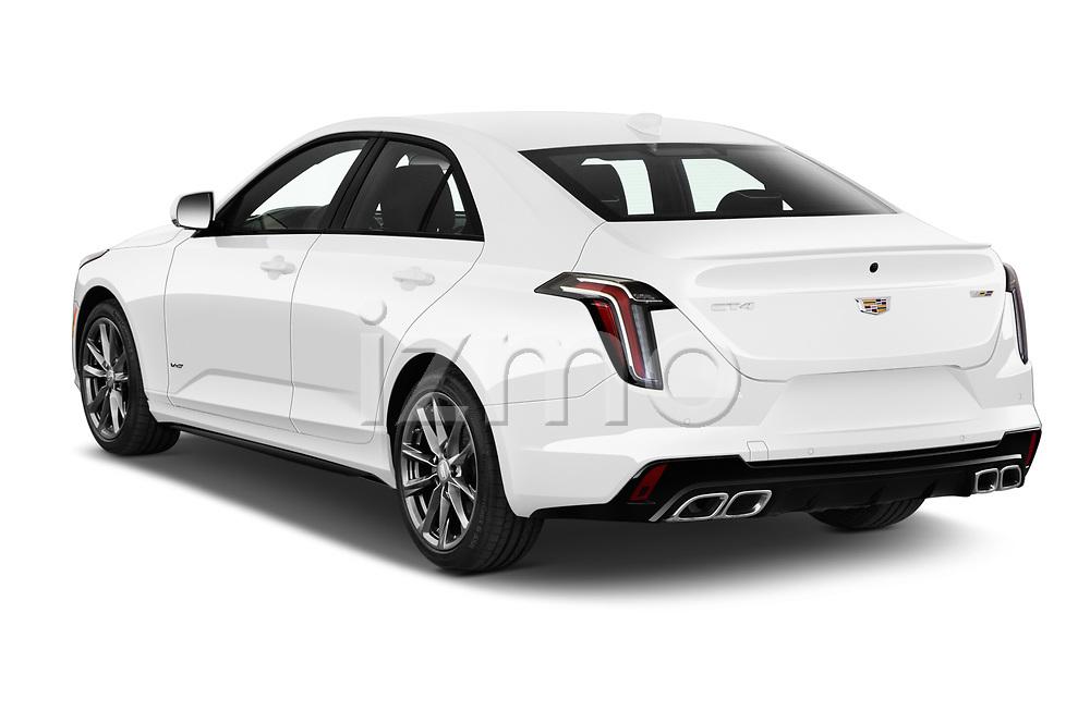 Car pictures of rear three quarter view of 2020 Cadillac CT4-V V-Series 4 Door Sedan Angular Rear